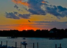 Sunset from Morgan Creek Grill, Isle of Palm, SC