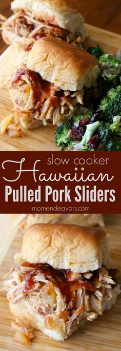 Slow Cooker Hawaiian Pulled Pork Sliders - so easy & delicious, perfect for football tailgating or an easy weeknight meal! #RealFlavorRealFast AD