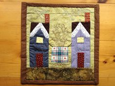 Mini Quilt - twin cabins