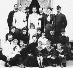 Extended family of the Romanovs including the British and Danish Royal families.