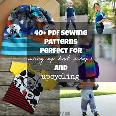 PDF Sewing Patterns Perfect for Upcycling & Using Knit Scraps! (Swoodson Says) Sewing Basics, Sewing Hacks, Sewing Tutorials, Sewing Crafts, Sewing Projects, Sewing Tips, Sewing Ideas, Sewing For Kids, Baby Sewing