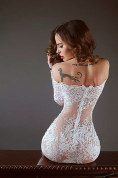 ...White lace with ink.