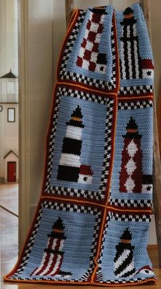 Leisure Arts Afghans to Adore - Crochet Patterns. Just look at these gorgeous designs created with Caron One Pound yarn! The six afghans feature lighthouses, st