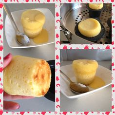 Little lemon delicious puddings made in the Chefs Toolbox Wok & Steamer