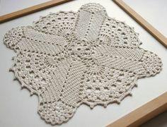 linen lace crochet square