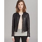 Maje Leather Jacket - Quilted
