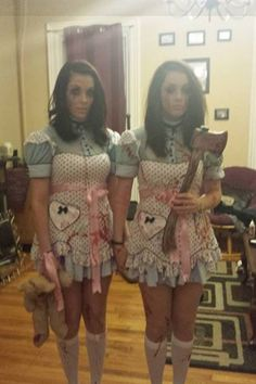 my twin sis and i as the grady twins from the shining we won - The Shining Halloween