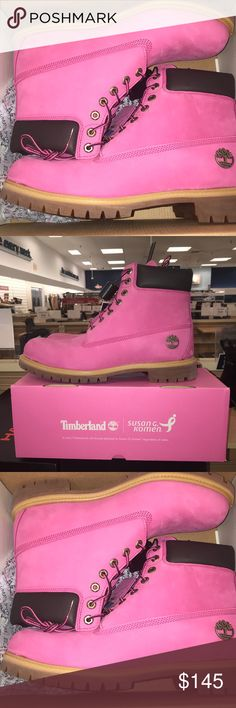 Timberland Susan G Komen pink limited edition (12) Real men wear Pink, especially for this cause. Size 12 brand new. Timberland Shoes Boots