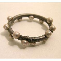 MEGAN AUMAN - USA Ring Silver on Steel