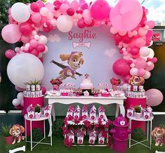 Skye Paw Patrol Cake, Sky Paw Patrol, Girl Paw Patrol Party, Paw Patrol Birthday Girl, Paw Patrol Party Decorations, Girl Birthday Decorations, Paw Patrol Balloons, Paw Patrol Invitations, Barbie