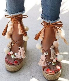 fa094861558c80 Bohemian Style Shoes Design Ideas For Girls