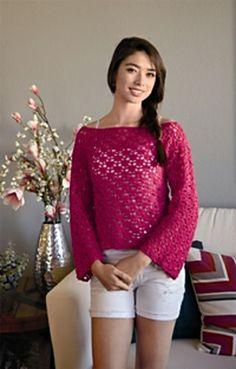 Fabulous in Fuschia Love of Crochet, Spring 2013