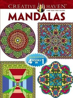 Creative Haven Mandalas Coloring Book Deluxe Editions 4 Books In 1
