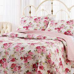 Laura Ashley Lidia Cotton Quilt Set, King
