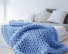 Ohhio der Grande Punto Decke. Klobige Decke. Merino-Wolle (23-Mikron Merinowolle)