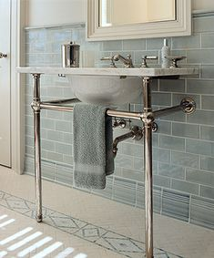 Waterworks bathroom posted on Houzz by Crisp Architects
