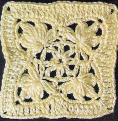 Interesting Crochet Square | Knitting Bee