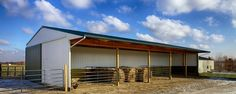 Need some inspiration on how to build a pole barn or post frame building? Building A Pole Barn, Post Frame Building, Metal Building Homes, Log Home Plans, Barn Plans, Show Cattle Barn, Morton Building, Homestead Farm, Pole Barn Homes