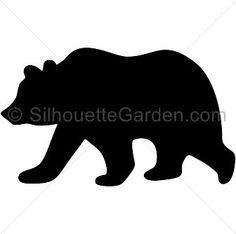 Image result for bear silhouette image free
