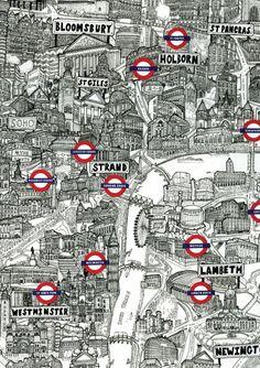 ♥️ Illustrated Tube Map