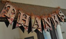 paper fall banners | Fall Banner with Chipboard