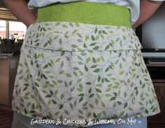 DIY Egg Gathering Apron from a pillow case