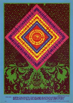 Big Brother & the Holding Co. Family, Charlatans, and Blue Cheer, Family Dog poster. By Moscoso (1967). This is not of this world...