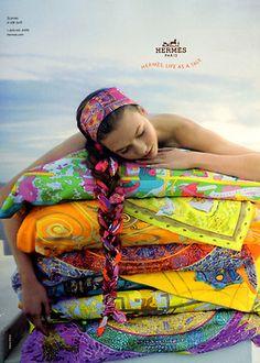suicideblonde:    Karlie Kloss for Hermes Spring/Summer 2010