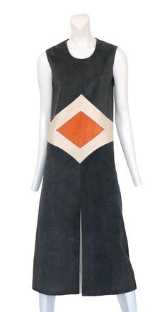 1960s Pierre Cardin Suede Dress