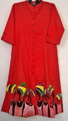 Saree Painting Designs, Fabric Paint Designs, Fabric Design, Dress Painting, Fabric Painting, Fabric Art, Hand Painted Sarees, Hand Painted Fabric, Kurtha Designs