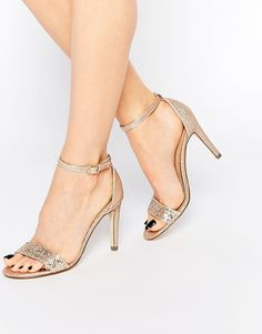 Call It Spring Waylanda Gold Two Part Heeled Sandals