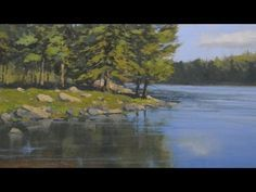 How to Paint Water Reflections - Acrylic Painting Lesson - YouTube
