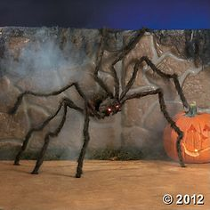 Fun Express - Hairy Spider W/Led Eyes for Halloween - Home Decor - Decorative Accessories - Home Accents - Halloween - 1 Piece Outside Halloween Decorations, Halloween Home Decor, Outdoor Halloween, Halloween House, Halloween Night, Scary Halloween, Fall Halloween, Halloween Party, Halloween Pictures