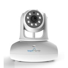 Bayit Home Automation Wireless HD 720P White Pan and Tilt, Wi-Fi Dome Camera with 2-Way Audio and Night Vision