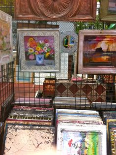 Original Painting on Tin Ceiling Tiles and other uses for old tiles