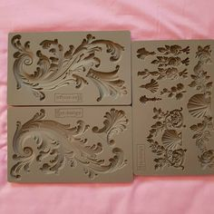 Redesign Mould - Italian Villa Scrolls High quality silicone moulds perfect for use with clay, resin and many other materials. Diy Furniture Projects, Diy Craft Projects, Diy And Crafts, Plaster Crafts, Plaster Art, Baroque Decor, Egg Carton Crafts, Applique Tutorial, Iron Orchid Designs