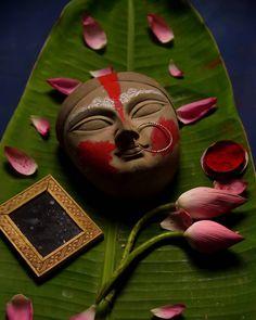 No photo description available. Durga Maa Paintings, Durga Painting, Indian Paintings, Indian Goddess, Goddess Lakshmi, Durga Puja Wallpaper, Diwali Craft For Children, Durga Puja Kolkata, Lord Durga