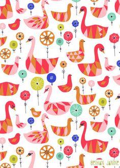 Swan Wallpaper. #tinylittlepads @tinylittlepads www.tinylittlepads.com