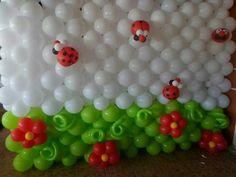 balloon wall ladybug