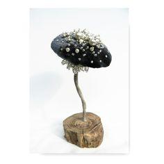 Blue Velvet mushroom decoration OOAK woodland toadstool display textile art by…
