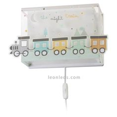 wandlamp The Night Train cm Night Train, Cable, Interior, Nature, Products, Appliques, Led Lights Bulbs, Kids Rooms, Favors