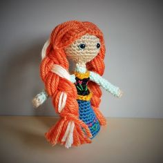 Disney's Anna Frozen Amigurumi Doll This one was fun with all the details on her dress!