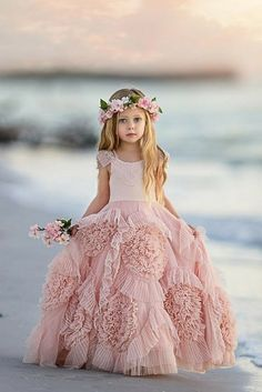 21 Flower Girl Dresses To Create A Magic Look ♥ Choosing flower girl dresses is important part of wedding preparations. With so much variety find a dress that will match to your wedding theme. #weddingdress #bride #wedding #weddingforward