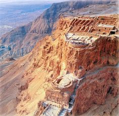 Masada is a rugged natural fortress, of majestic beauty, in the Judaean Desert overlooking the Dead Sea. It is a symbol of the ancient kingdom of Israel, its violent destruction and the last stand of Jewish patriots in the face of the Roman army, in 73 A.D.