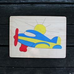 Airplane Wooden Puzzle - great gift for little aviators!