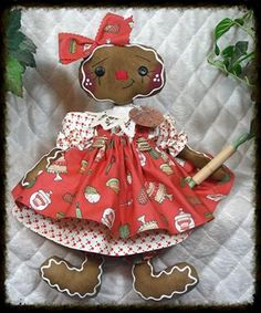 Primitive-Raggedy-NEW-2015-COOKIE-Gingerbread-Collection-14-doll-w-ornie