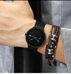 Ultra Thin Casual Style Watch Mens Sport Watches, Luxury Watches For Men, Tattoo Arm Mann, All Black Men, Fake Tattoo, Waterproof Sports Watch, Tattoo Und Piercing, Swiss Army Watches, Cool Watches