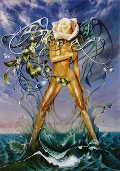 the birth of femininity. acrylic on canvas autor Antonello Venditti www.vendittiantonello.com copyirght
