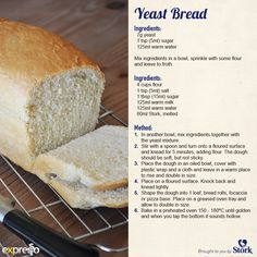 Yeast Bread Love when then recipe is right on the pin Bread Tin, Biscuit Bread, Retro Recipes, Vintage Recipes, Stork Recipes, Yeast Bread Recipes, Food Plus, Bakery Menu, Bread Ingredients