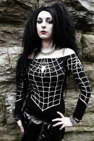 Off Shoulder Spider Top from Gothic Clothing UK by Drac-In-A-Box